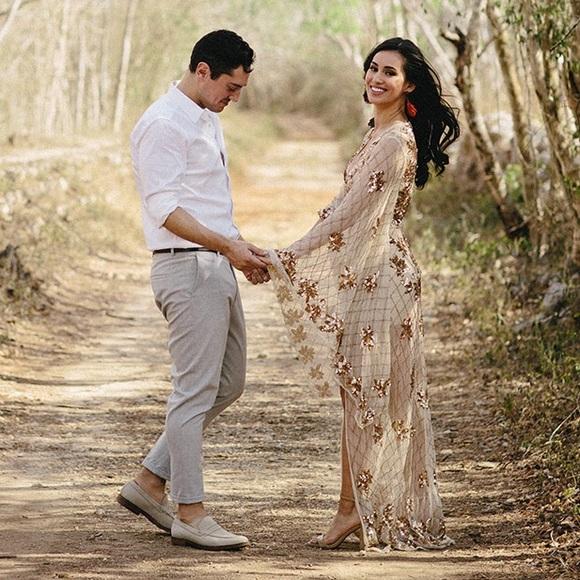 a250a6c32f Missguided kimono sleeve embellished wedding dress.  M 5b5e4772153795fc63f68ae4